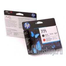Головка HP CE017A матовая черная и красная